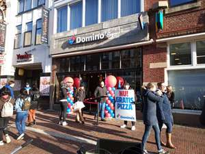 Gratis Domino's pizza @LeidenStation