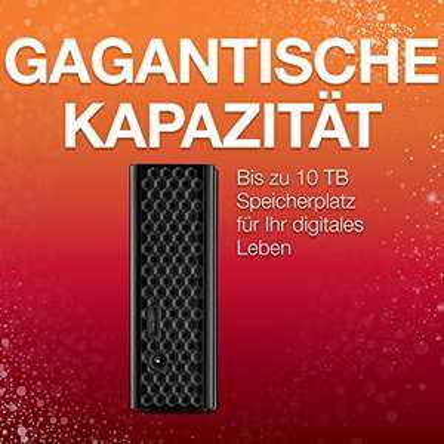 6TB Seagate Backup Plus Desktop, externe harde schijf Backup voor mobiele apparaten; USB 3.0, PC & Mac, PS4 en XBox.