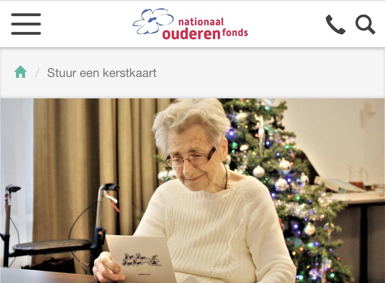 Stuur een kerstkaart naar eenzame ouderen
