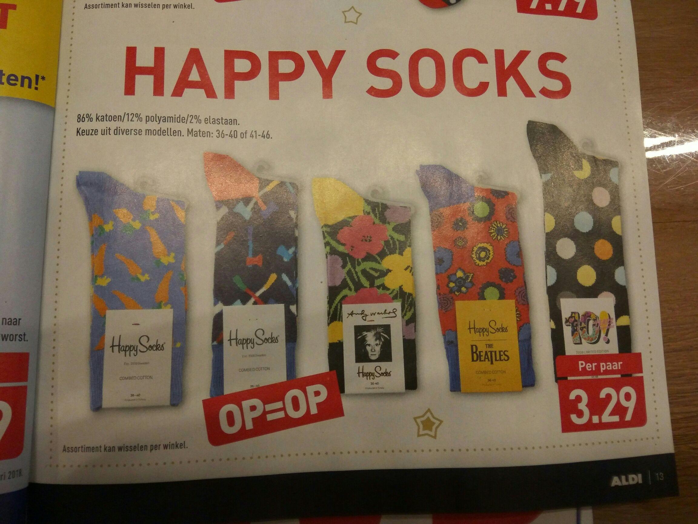 Happy Socks €3,29 pp @Aldi