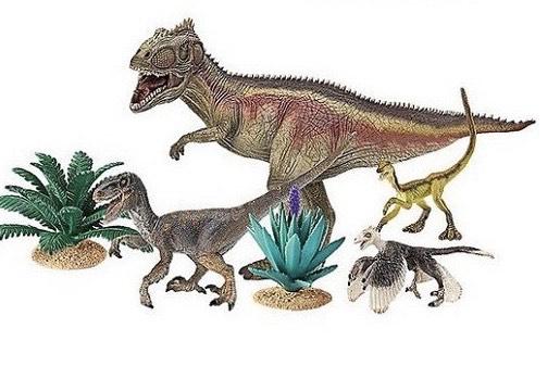 Dinoset Schleich 42264, 4 Dino's & 2 planten