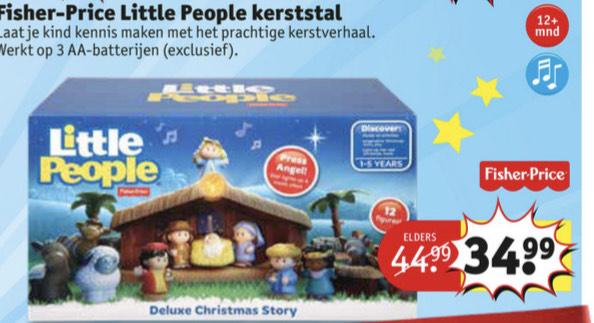 Little people kerststal met licht en geluid