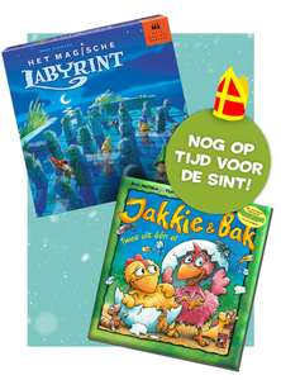 Magische Labyrint bordspel + Jakkie en Bak voorleesboek dagdeal 999 games