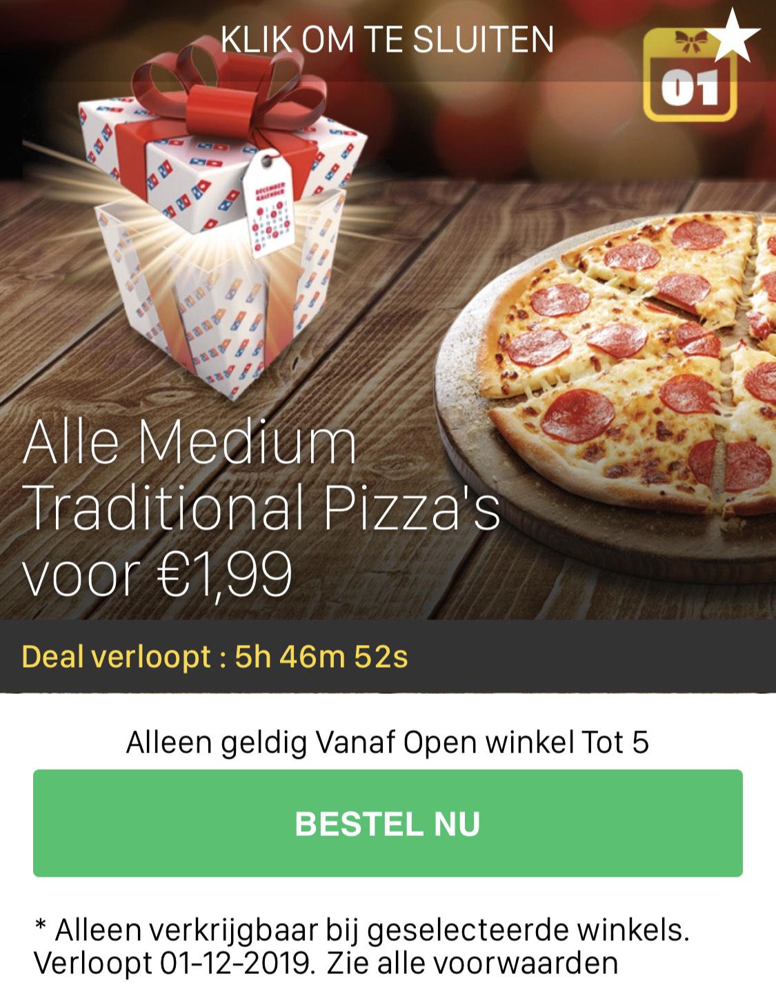 Domino's pizza 1,99