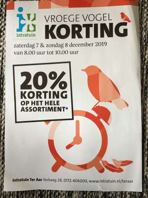 20% korting alles Intratuin
