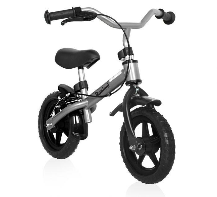 Baninni Loopfietsje Wheely Silver, 2 tot 3 jaar, Black Friday aanbieding