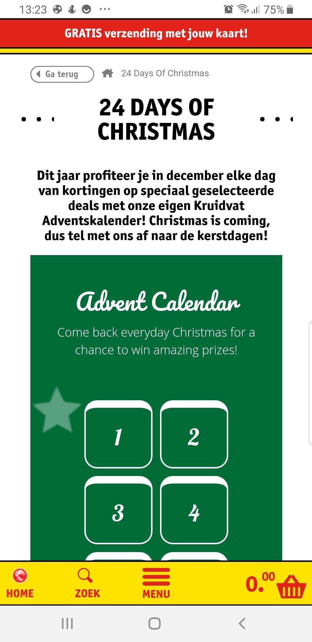 Advent kalender kruidvat
