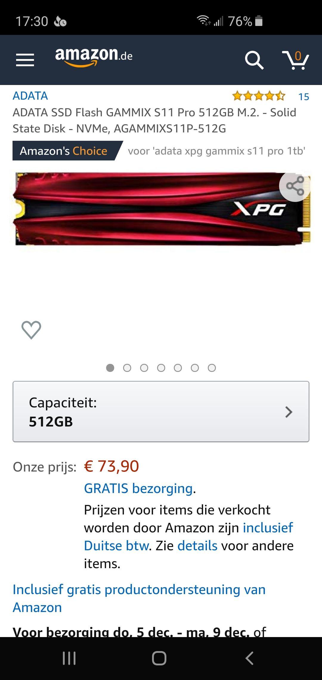 M.2 ADATA SSD Flash GAMMIX S11 Pro 512GB