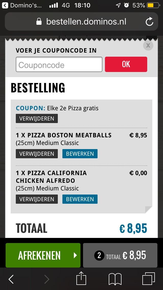 2e pizza gratis