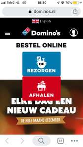 Dagdeal Domino's —> Gratis Cheesy Bread bij 2 pizza's