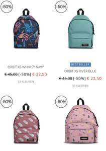 Eastpak blackfriday + 15% extra korting