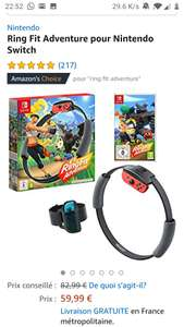Nintendo Switch Ring Fit Adventure 59,99 @Amazon.fr