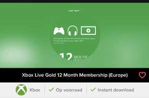 Xbox Live Gold 12 Month Membership (Europe)