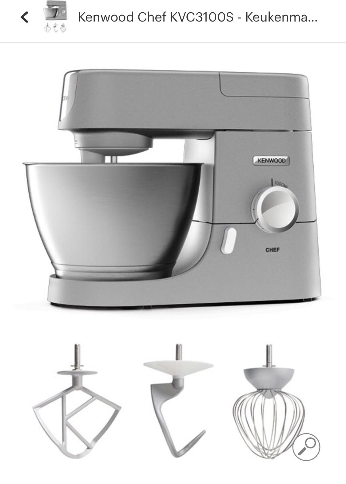 Kenwood KVC3100S keukenmachine €159 na cashback. @bol.com