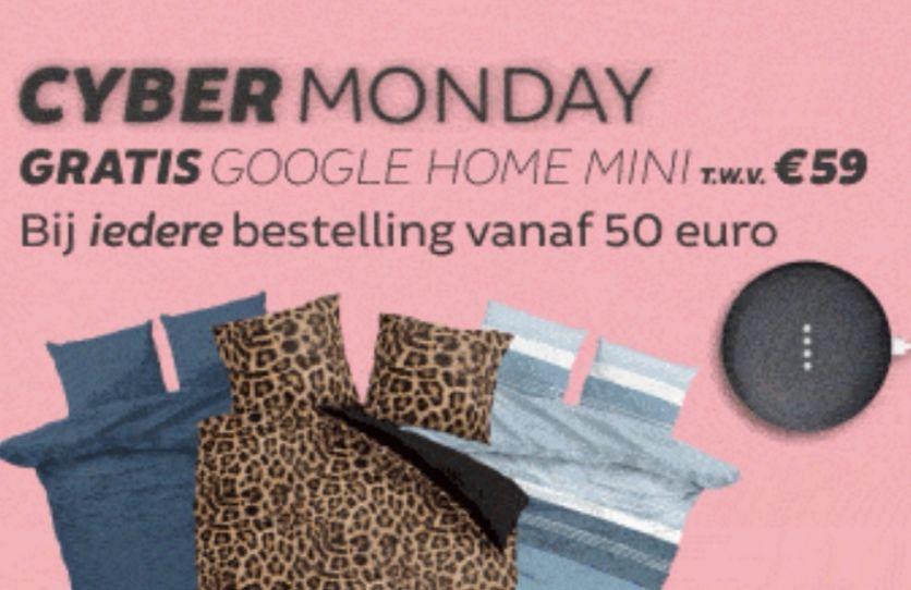 [Cyber Monday] Gratis een Google Home Mini bij besteding van € 49,95 @ Dekbeddiscounter