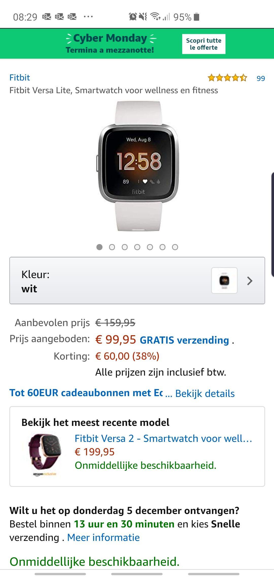 Cyber Monday, Fitbit Versa Lite
