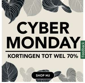 Cyber Monday Holland & Barret tot 70% korting