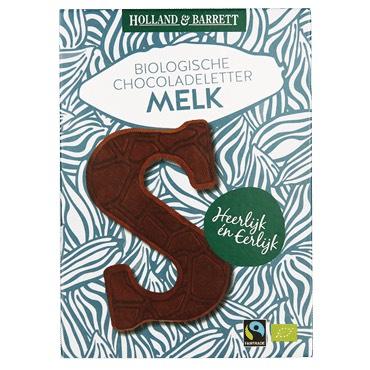 Bio Fairtrade Chocoladeletters P, S, M €0,99 135 gram