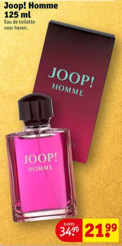 JOOP! HOMME EAU DE TOILETTE 125ml voor 21,99 @ Kruidvat.nl