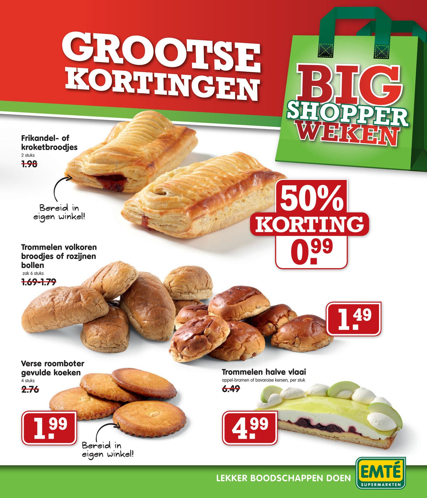 2 frikandelbroodjes voor € 0,99 @ Emté