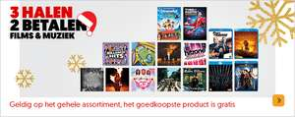 3 halen 2 betalen op Films en Muziek @ Media Markt