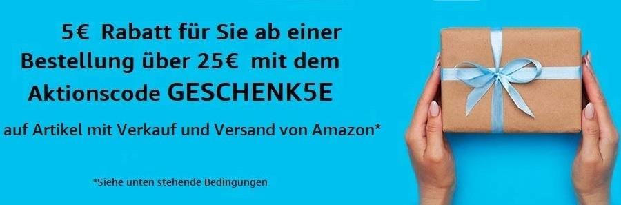 [Geselecteerde accounts] €5 korting bij minimaal €25 besteding @ Amazon DE