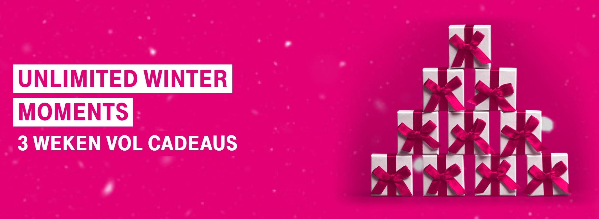 Unlimited Winter Moments: 3 weken gratis cadeaus voor T-Mobile klanten