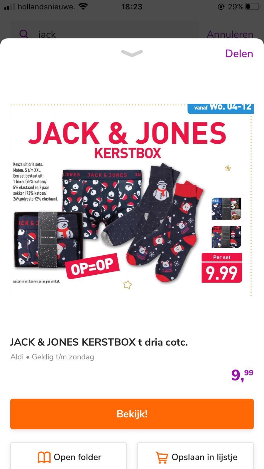 Jack&Jones kerstbox bij Aldi