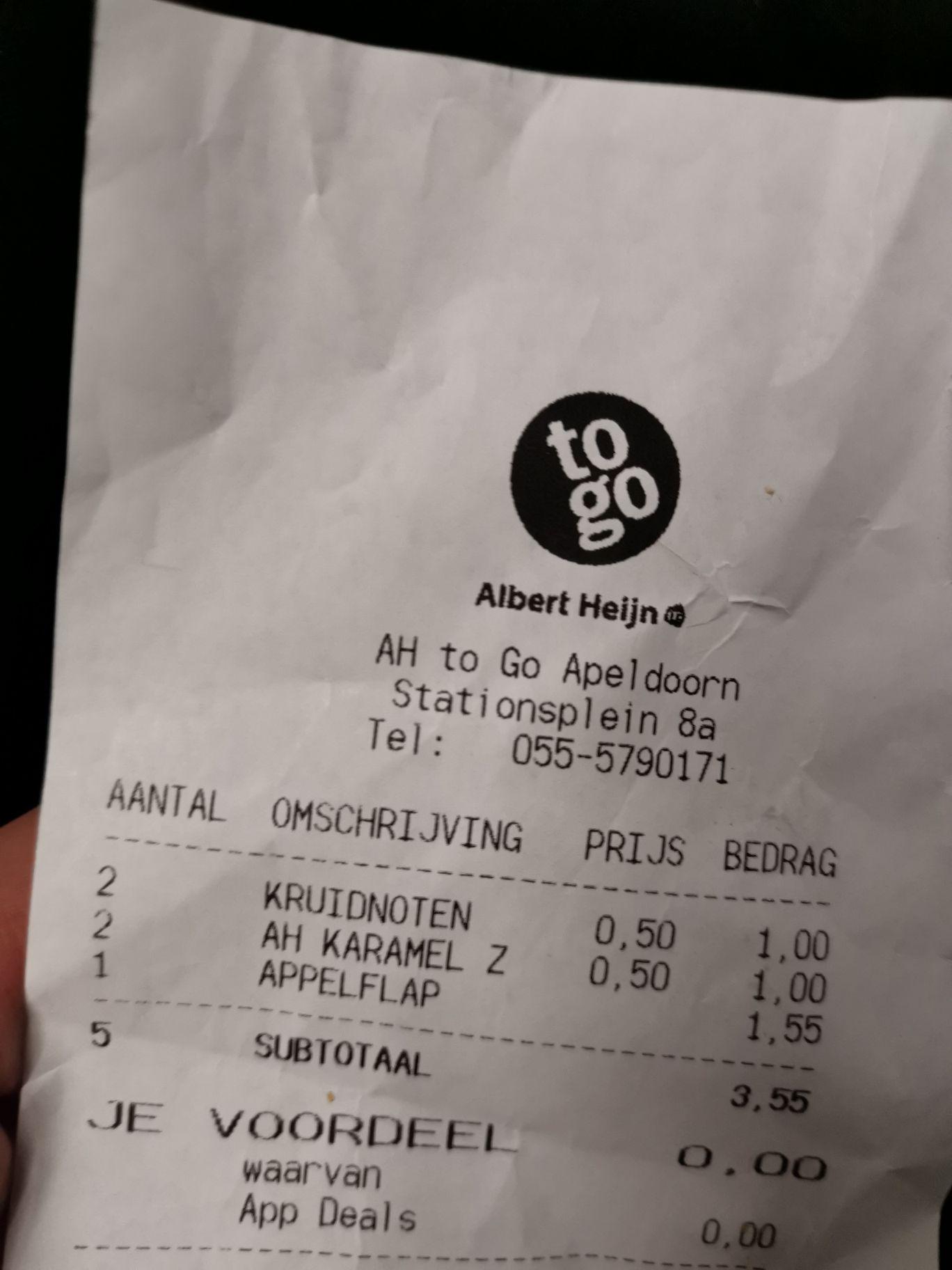 [lokaal] Apeldoorn ah to go chocolade kruidnoten