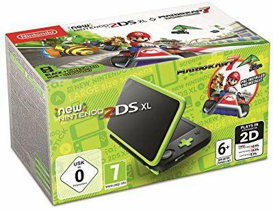 New Nintendo 2DS XL (zwart/groen) inclusief Mario Kart 7