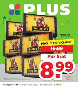 Plus: krat Hertog Jan bier €8,99