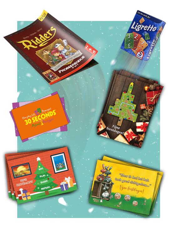 Unieke kerstkaarten met gratis probeerspellen!