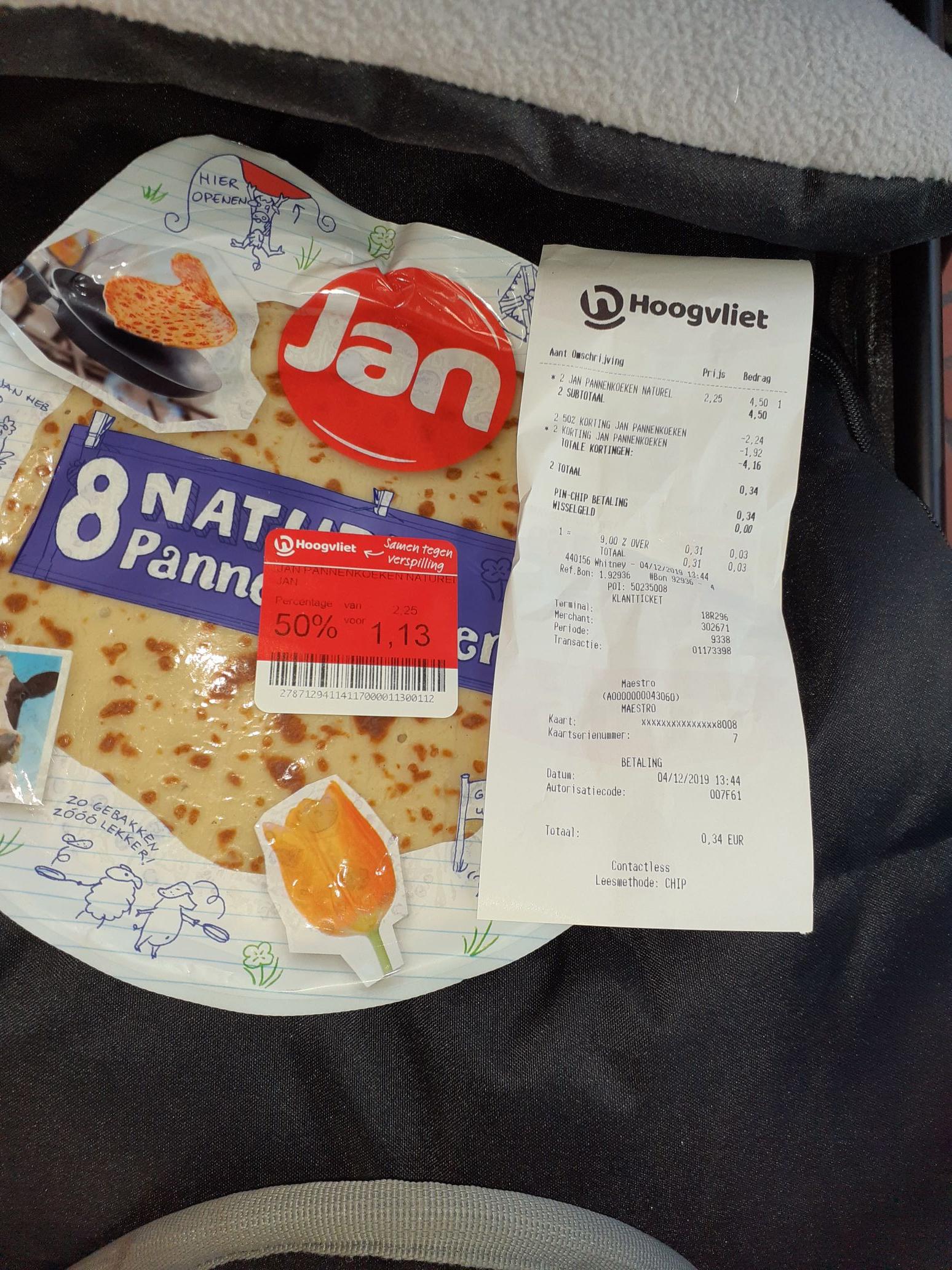 Jan Pannenkoeken €0.17 Hoogvliet [Lokaal?]