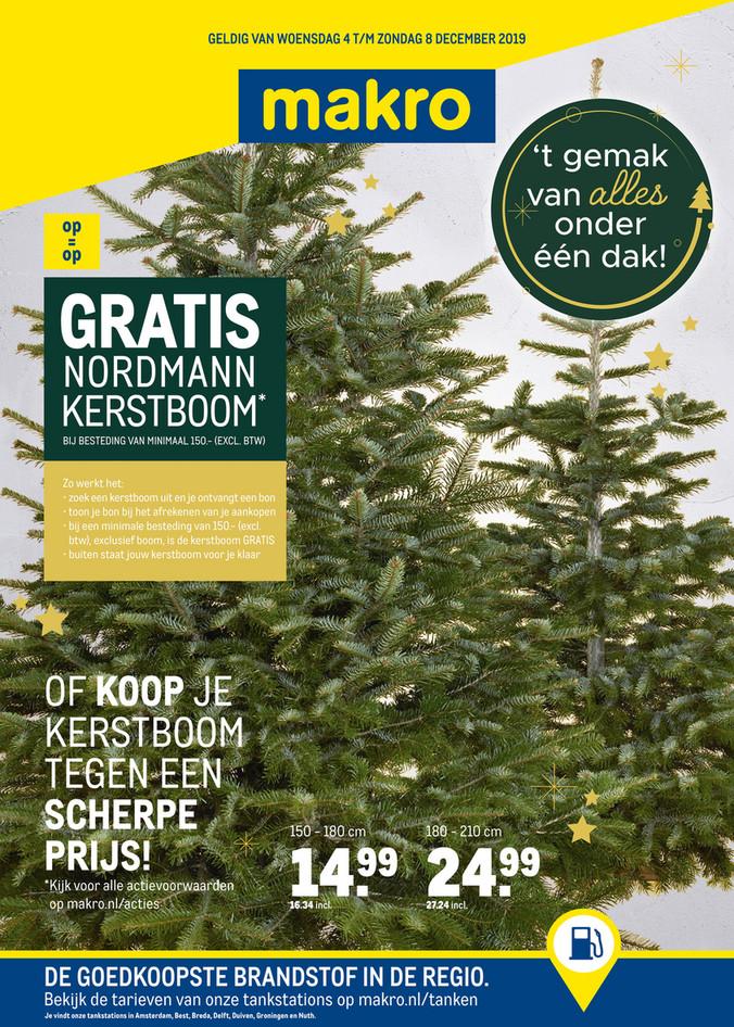 Gratis Nordmann kerstboom bij besteding vanaf €150,- (excl BTW) - MAKRO