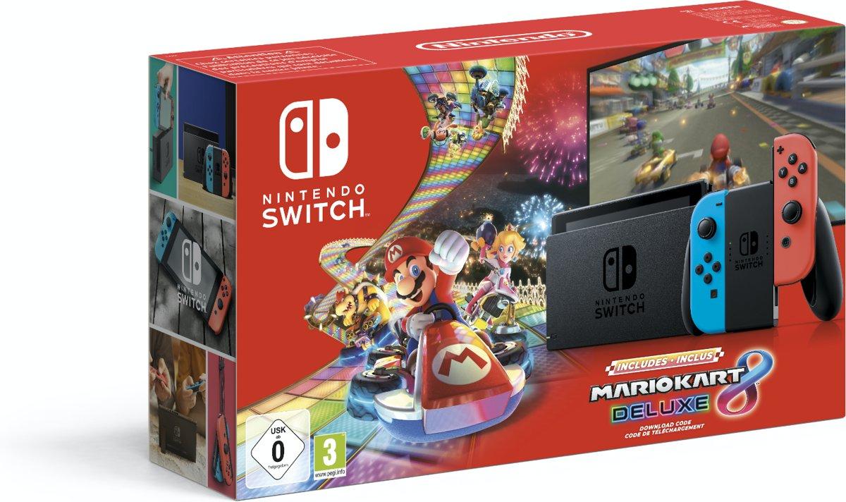 Nintendo Switch (2019 Edition) Mario Kart 8 Deluxe Bundel @ Amazon.de