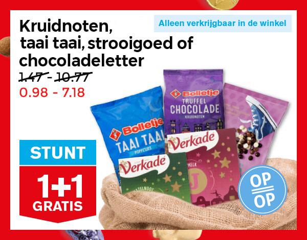 Snoepgoed Sint 1+1 gratis @ Hoogvliet