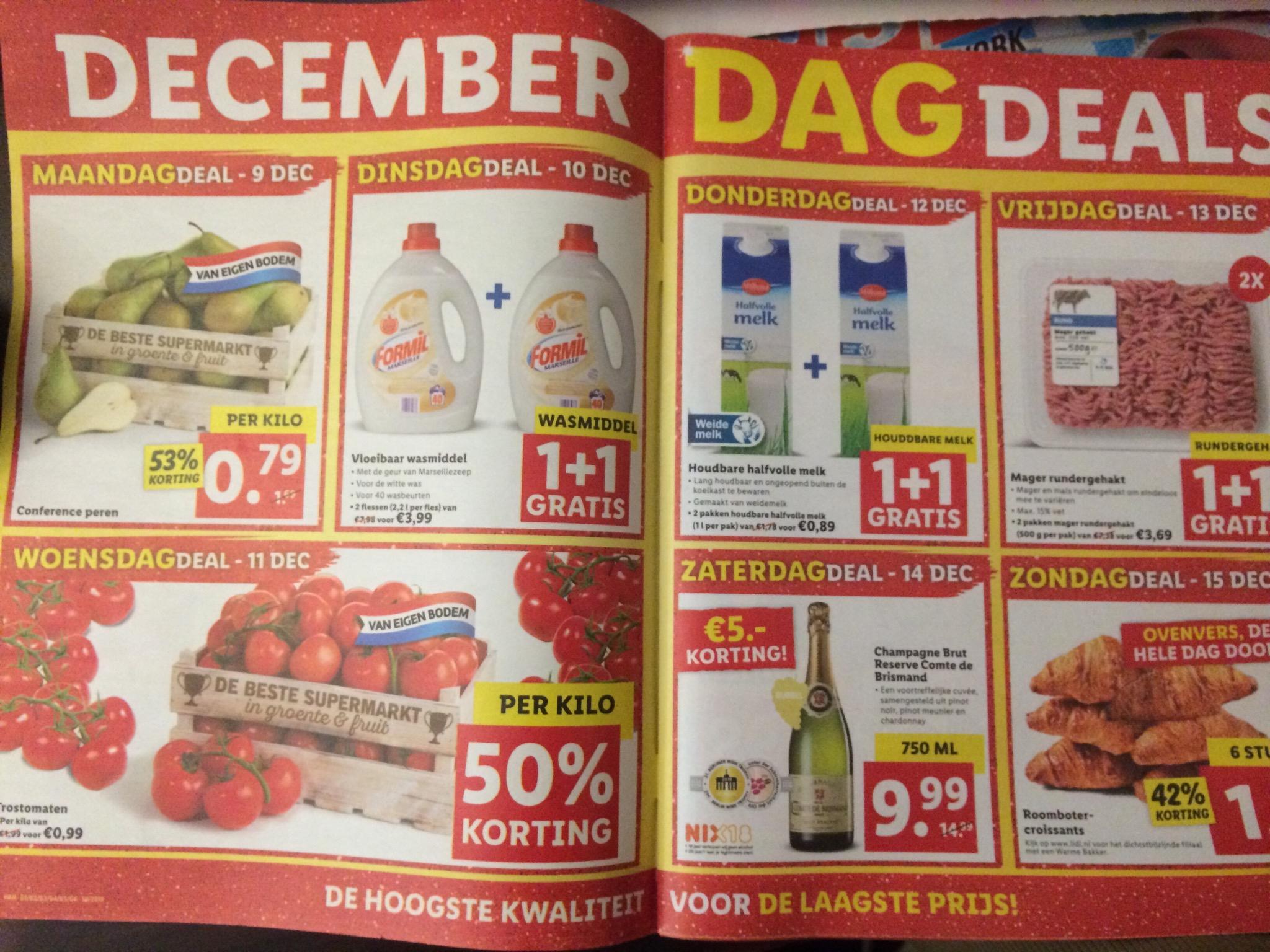 December dagdeals Lidl: volgende week o.a. mager rundergehakt 3,68 p/kg