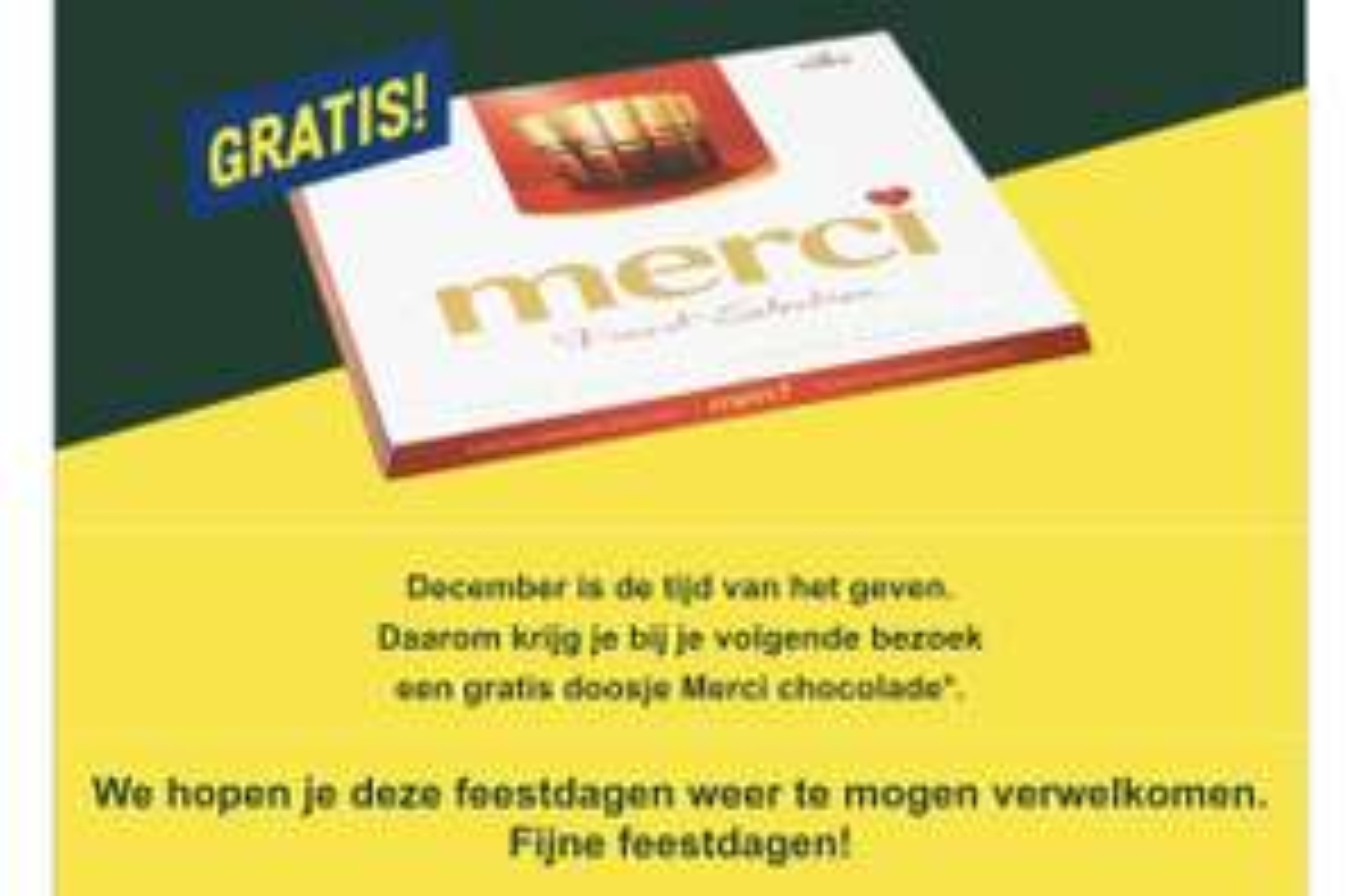 Gratis Merci chocolade voor Makro pashouders
