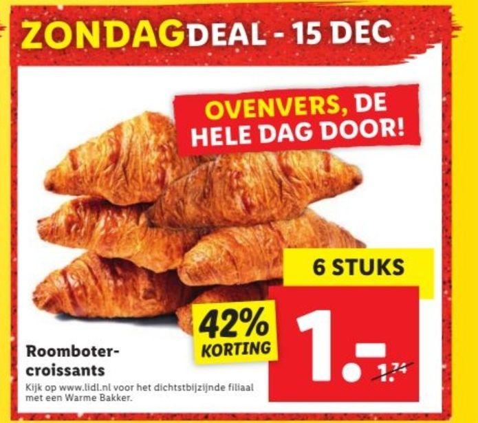 Roomboter Croissant 6 stuks (LIDL)