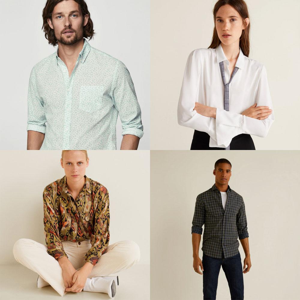Dames blouses + heren overhemden €9,99 p.s. @ Mango Outlet