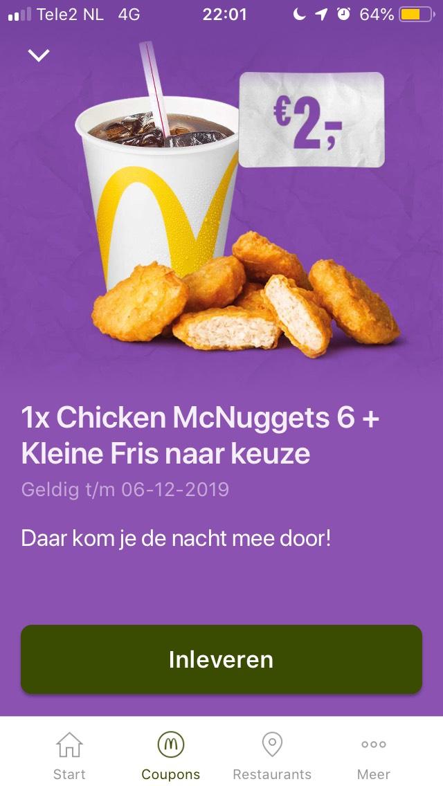 Chicken 6 McNuggets + Frisdrank