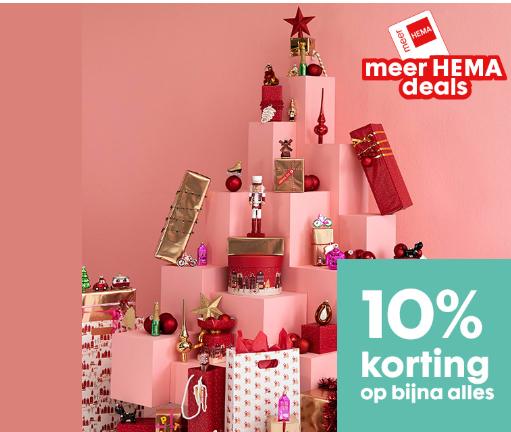 Met 'meer HEMA' pas t/m 8 december 10% korting in de winkel en online + nog eens 10%