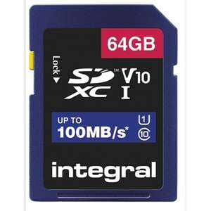 Integral 64GB SDXC bij Viking @ 3,62 euro !