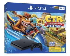 PlayStation 4 Slim (500 GB) + Crash Team Racing: Nitro-Fueled (Fortnite - €235) @ Game-Outlet