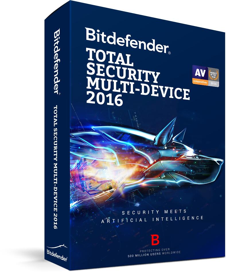 Bitdefender Total Security Multi-Device 2015 5 pc' s 1 jaar