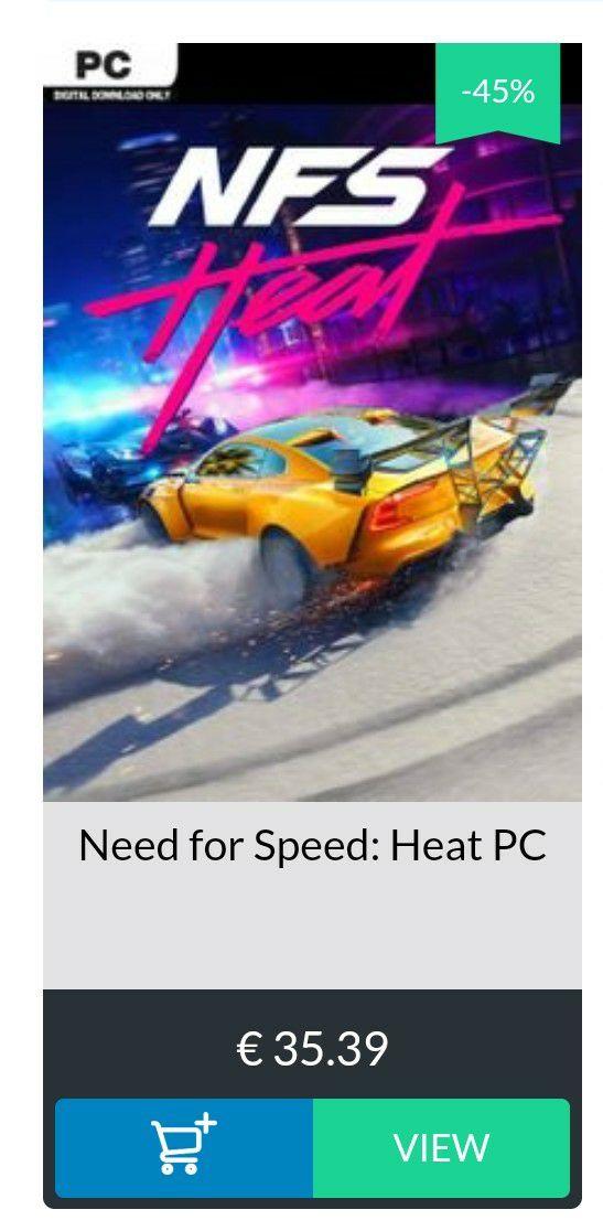 Need for speed Heat (PC origin) cdkeys.com