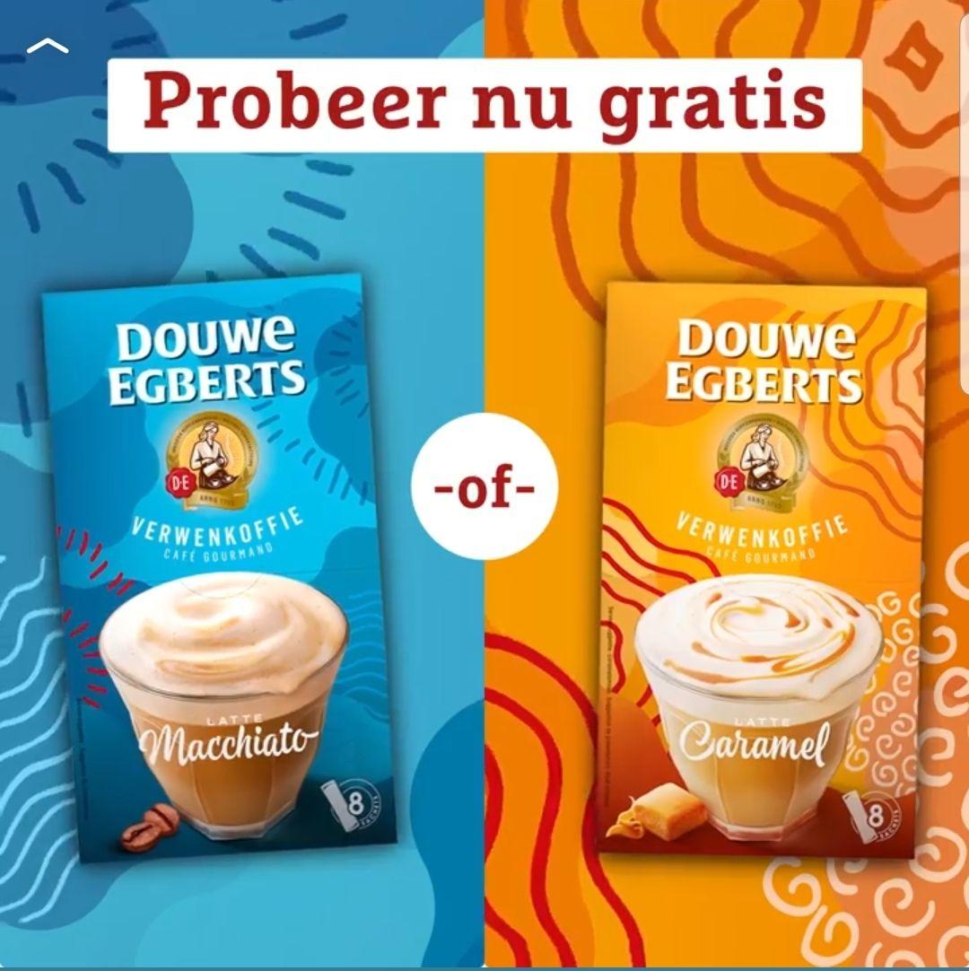 Gratis sample DE verwenkoffie Latte Macchiato of Latte caramel