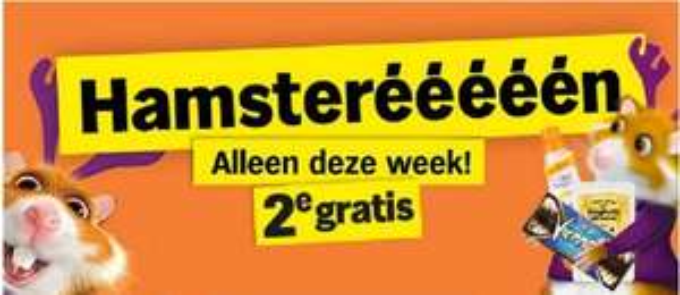 Hamsterééééééén, 2e GRATIS, alleen deze week @ Albert Heijn