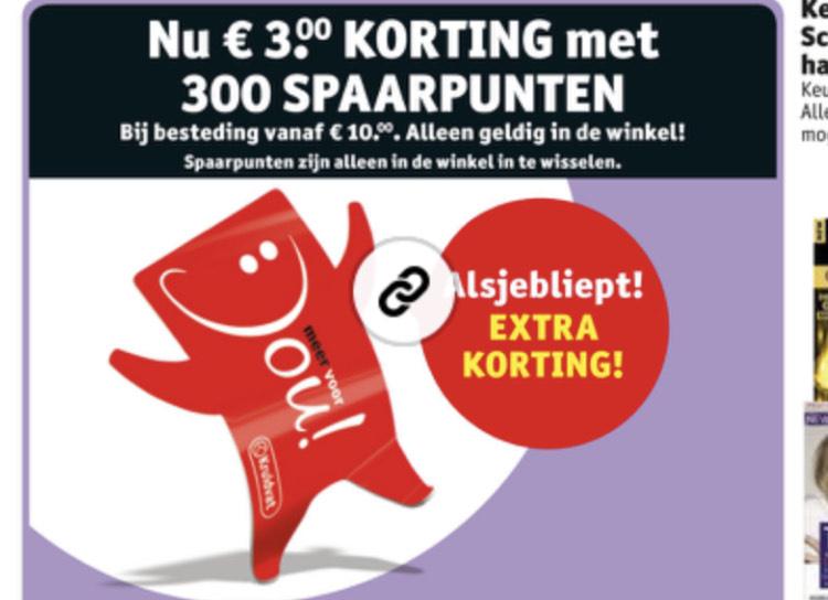 €3 korting bij inlevering van punten @ Kruidvat