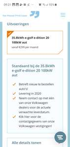 VW e-Golf private lease tot wel 40pm goedkoper